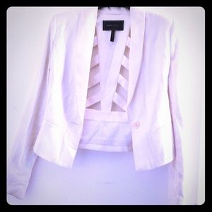 White blazer from BCBG